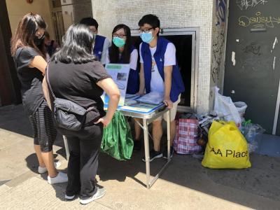 鴻都大廈 - 環保回收攤位